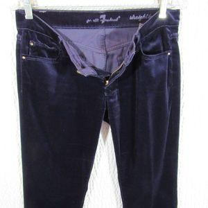 7 For All Mankind Purple Pants Plum Velvet 27
